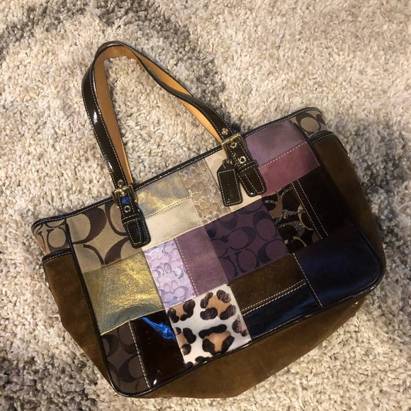 Coach Handbags - Patterned Coach Tote